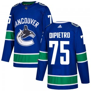 Youth Vancouver Canucks Michael DiPietro Adidas Authentic Home Jersey - Blue
