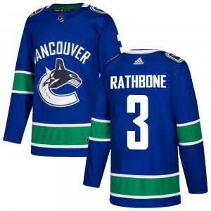Youth Vancouver Canucks Jack Rathbone Adidas Authentic Home Jersey - Blue