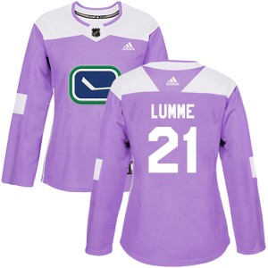 Women's Vancouver Canucks Jyrki Lumme Adidas Authentic Fights Cancer Practice Jersey - Purple