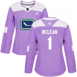 Women's Vancouver Canucks Kirk Mclean Adidas Authentic Fights Cancer Practice Jersey - Purple