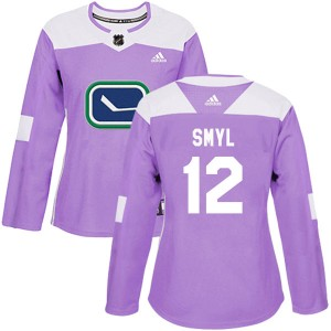 Women's Vancouver Canucks Stan Smyl Adidas Authentic Fights Cancer Practice Jersey - Purple