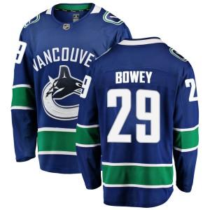 Youth Vancouver Canucks Madison Bowey Fanatics Branded Breakaway Home Jersey - Blue