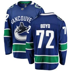 Youth Vancouver Canucks Travis Boyd Fanatics Branded Breakaway Home Jersey - Blue