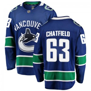 Youth Vancouver Canucks Jalen Chatfield Fanatics Branded Breakaway Home Jersey - Blue
