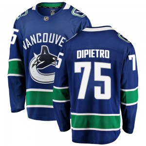 Youth Vancouver Canucks Michael DiPietro Fanatics Branded Breakaway Home Jersey - Blue