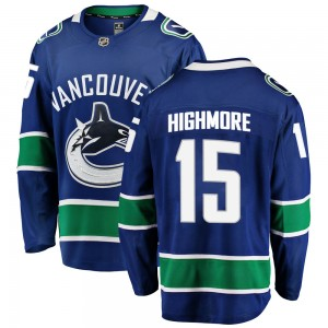 Youth Vancouver Canucks Matthew Highmore Fanatics Branded Breakaway Home Jersey - Blue