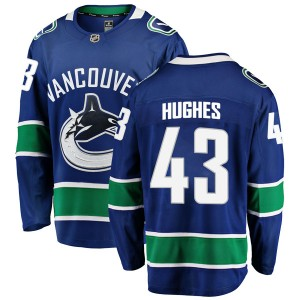 Youth Vancouver Canucks Quinn Hughes Fanatics Branded Breakaway Home Jersey - Blue