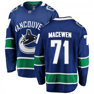 Youth Vancouver Canucks Zack MacEwen Fanatics Branded Breakaway Home Jersey - Blue