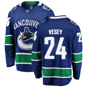 Youth Vancouver Canucks Jimmy Vesey Fanatics Branded Breakaway Home Jersey - Blue