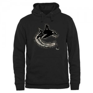 Men's Vancouver Canucks Rink Warrior Pullover Hoodie - Black