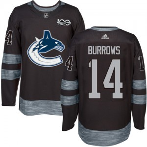 Men's Vancouver Canucks Alex Burrows Adidas Authentic 1917-2017 100th Anniversary Jersey - Black