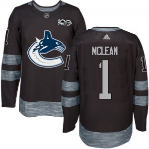 Men's Vancouver Canucks Kirk Mclean Adidas Authentic 1917-2017 100th Anniversary Jersey - Black