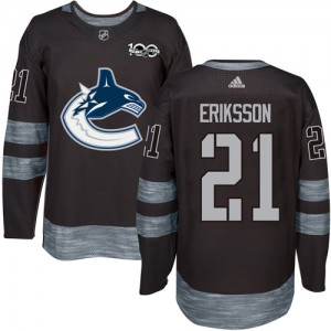 Men's Vancouver Canucks Loui Eriksson Adidas Authentic 1917-2017 100th Anniversary Jersey - Black