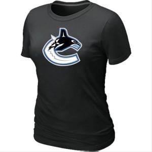 Women's Vancouver Canucks Big & Tall Logo T-Shirt - - Black