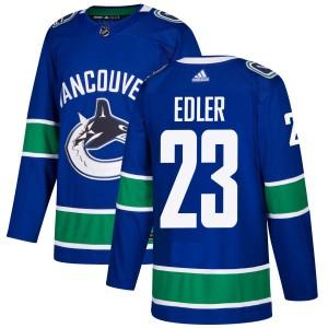 Men's Vancouver Canucks Alexander Edler Adidas Authentic Jersey - Blue