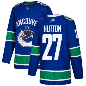 Men's Vancouver Canucks Ben Hutton Adidas Authentic Jersey - Blue