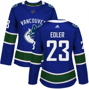 Women's Vancouver Canucks Alexander Edler Adidas Authentic Home Jersey - Blue