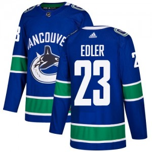Youth Vancouver Canucks Alexander Edler Adidas Authentic Home Jersey - Blue