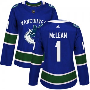 Women's Vancouver Canucks Kirk Mclean Adidas Authentic Home Jersey - Blue