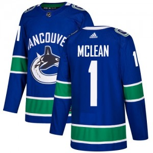 Youth Vancouver Canucks Kirk Mclean Adidas Authentic Home Jersey - Blue