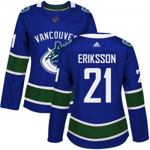 Women's Vancouver Canucks Loui Eriksson Adidas Authentic Home Jersey - Blue
