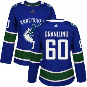 Women's Vancouver Canucks Markus Granlund Adidas Authentic Home Jersey - Blue