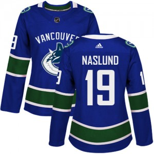 Women's Vancouver Canucks Markus Naslund Adidas Authentic Home Jersey - Blue