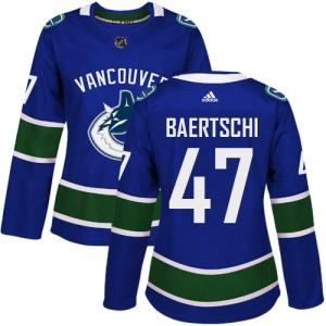 Women's Vancouver Canucks Sven Baertschi Adidas Authentic Home Jersey - Blue