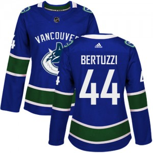 Women's Vancouver Canucks Todd Bertuzzi Adidas Authentic Home Jersey - Blue
