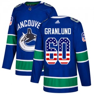 Men's Vancouver Canucks Markus Granlund Adidas Authentic USA Flag Fashion Jersey - Blue
