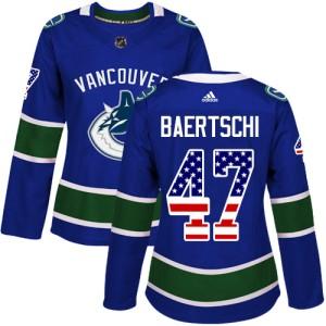 Women's Vancouver Canucks Sven Baertschi Adidas Authentic USA Flag Fashion Jersey - Blue