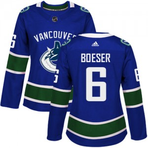 Women's Vancouver Canucks Brock Boeser Adidas Authentic Home Jersey - Blue