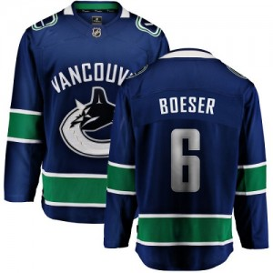 Youth Vancouver Canucks Brock Boeser Fanatics Branded Home Breakaway Jersey - Blue