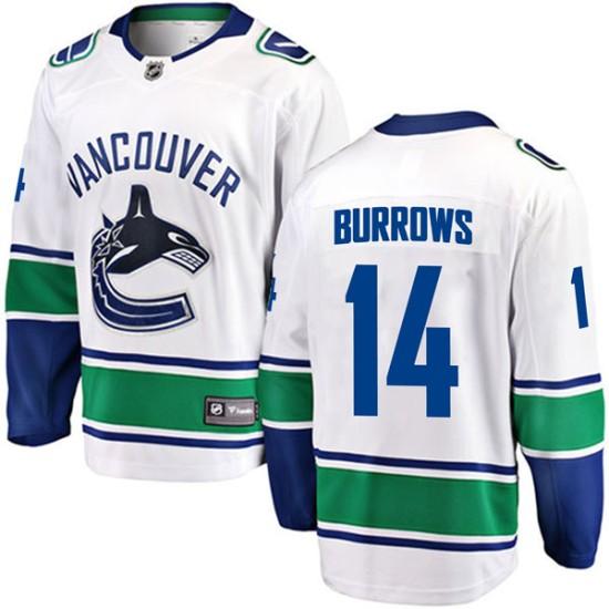 Men's Vancouver Canucks Alex Burrows Fanatics Branded Breakaway Away Jersey - White