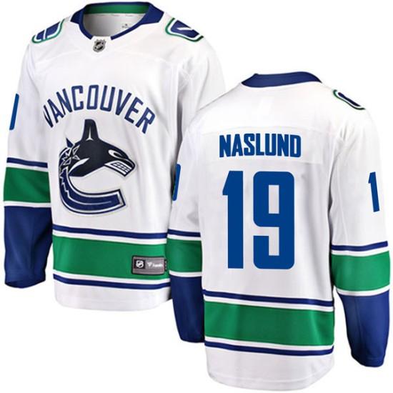 Men's Vancouver Canucks Markus Naslund Fanatics Branded Breakaway Away Jersey - White