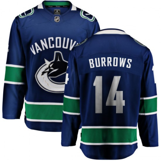 Men's Vancouver Canucks Alex Burrows Fanatics Branded Home Breakaway Jersey - Blue