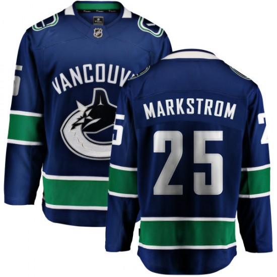 Men's Vancouver Canucks Jacob Markstrom Fanatics Branded Home Breakaway Jersey - Blue