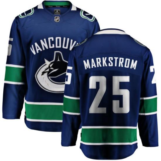 Youth Vancouver Canucks Jacob Markstrom Fanatics Branded Home Breakaway Jersey - Blue