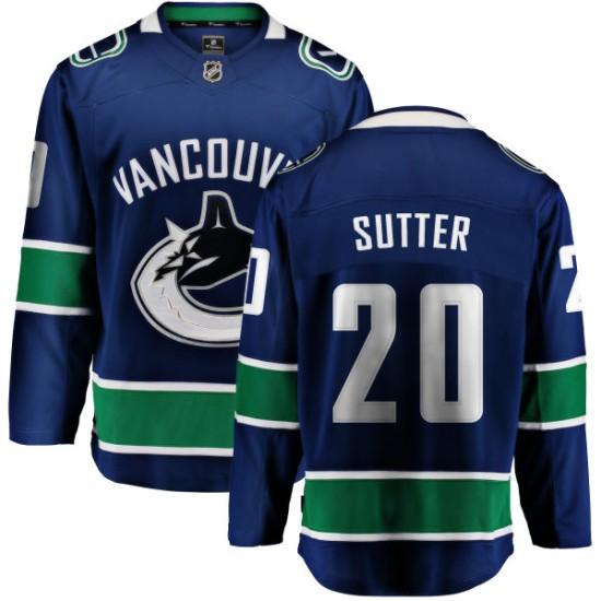 Men's Vancouver Canucks Brandon Sutter Fanatics Branded Home Breakaway Jersey - Blue