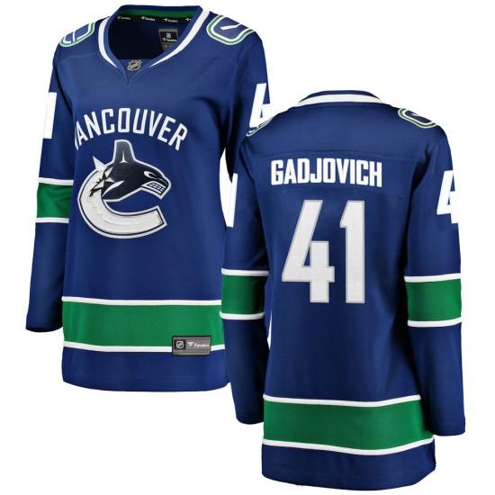 Women's Vancouver Canucks Jonah Gadjovich Fanatics Branded Breakaway Home Jersey - Blue
