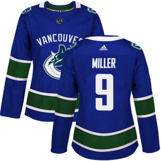 Women's Vancouver Canucks J.T. Miller Adidas Authentic Home Jersey - Blue
