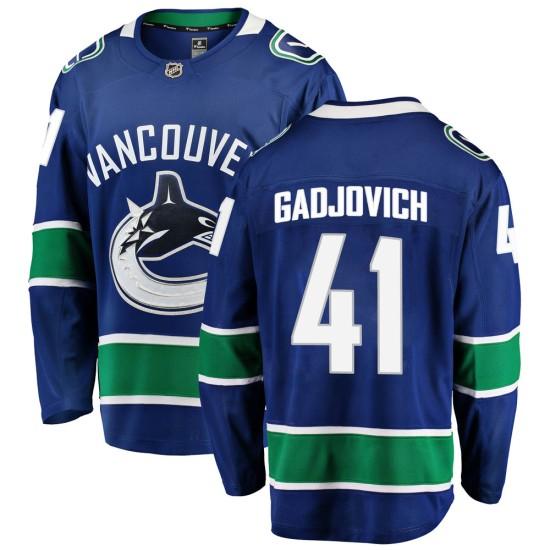 Men's Vancouver Canucks Jonah Gadjovich Fanatics Branded Breakaway Home Jersey - Blue