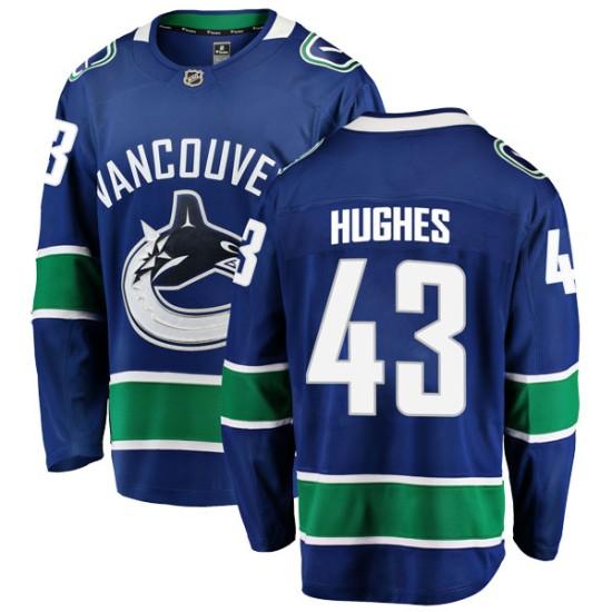 Men's Vancouver Canucks Quinn Hughes Fanatics Branded Breakaway Home Jersey - Blue