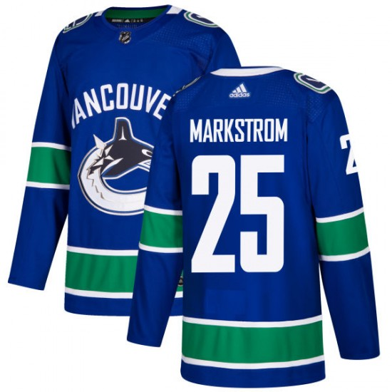 Men's Vancouver Canucks Jacob Markstrom Adidas Authentic Jersey - Blue